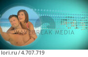 Купить «Disc graphic about holidays», видеоролик № 4707719, снято 22 июля 2019 г. (c) Wavebreak Media / Фотобанк Лори