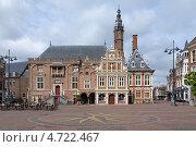Купить «Ратуша на площади Гроте-Маркт в Харлеме, Нидерланды», фото № 4722467, снято 26 мая 2013 г. (c) Михаил Марковский / Фотобанк Лори