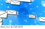 E-Mail Concept Animation. Стоковое видео, агентство Wavebreak Media / Фотобанк Лори
