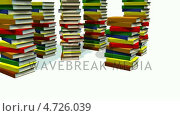 Купить «3d Books stacked », видеоролик № 4726039, снято 6 июня 2020 г. (c) Wavebreak Media / Фотобанк Лори