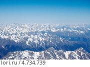 Купить «Вид Кавказских гор с западной вершины Эльбруса», фото № 4734739, снято 9 мая 2013 г. (c) Дмитрий Шульгин / Фотобанк Лори