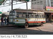 Купить «Городской автобус, на станции Панаджи. Индия, Гоа», фото № 4738523, снято 22 марта 2013 г. (c) Александр Овчинников / Фотобанк Лори