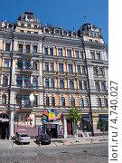 Фасад дома на улице Владимирской, Киев, Украина (2013 год). Редакционное фото, фотограф Ekaterina Shustrova / Фотобанк Лори