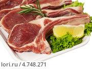 Купить «Сырое мясо ягненка», фото № 4748271, снято 20 мая 2019 г. (c) Marina Appel / Фотобанк Лори