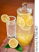 Купить «Лимонный сок в кувшине», фото № 4750467, снято 29 июля 2011 г. (c) Анастасия Мелешкина / Фотобанк Лори