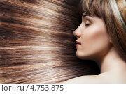 Купить «Девушка с длинными прямыми волосами», фото № 4753875, снято 20 мая 2013 г. (c) Константин Юганов / Фотобанк Лори