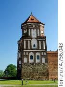Купить «Башня Мирского замка», фото № 4756043, снято 6 июня 2013 г. (c) Инна Грязнова / Фотобанк Лори