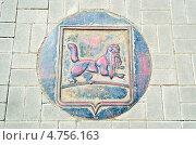 Купить «Декоративный люк с изображением герба Иркутска», фото № 4756163, снято 18 мая 2013 г. (c) Юлия Батурина / Фотобанк Лори