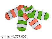 Купить «Разноцветные полосатые носки», фото № 4757003, снято 16 июня 2013 г. (c) Инна Грязнова / Фотобанк Лори