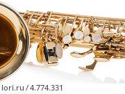 Купить «Саксофон, крупный план», фото № 4774331, снято 23 декабря 2012 г. (c) Андрей Попов / Фотобанк Лори