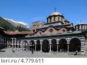 Купить «Болгария. Рильский (Рыльский) монастырь и заснеженные горы.», фото № 4779611, снято 28 апреля 2013 г. (c) Victor Spacewalker / Фотобанк Лори