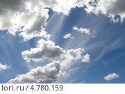 Синее небо с облаками. Стоковое фото, фотограф Рачия Арушанов / Фотобанк Лори