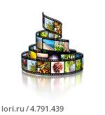 Купить «Фотопленка с различными изображениями», иллюстрация № 4791439 (c) Сергей Куров / Фотобанк Лори