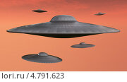 Купить «НЛО в небе», иллюстрация № 4791623 (c) Сергей Куров / Фотобанк Лори