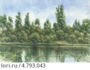 Купить «На берегу реки», иллюстрация № 4793043 (c) Евгения Фашаян / Фотобанк Лори