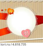 Круглая кружевная салфетка. Стоковая иллюстрация, иллюстратор Александр Рожков / Фотобанк Лори