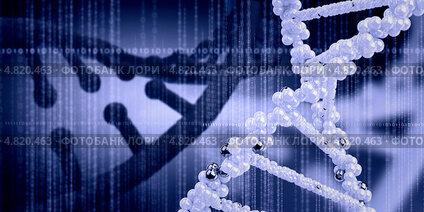 Купить «Молекула ДНК - носитель наследственной информации», фото № 4820463, снято 14 октября 2019 г. (c) Sergey Nivens / Фотобанк Лори