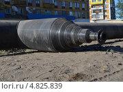 Вентиль на полипропиленовом трубопроводе. Стоковое фото, фотограф Оксана Сафонова / Фотобанк Лори