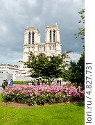Купить «Нотр-Дам-де-Пари (Собор Парижской Богоматери, Notre Dame de Paris). Париж. Франция», фото № 4827731, снято 24 июня 2013 г. (c) Екатерина Овсянникова / Фотобанк Лори