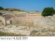 Руины древнего амфитеатра на территории Херсонеса. Севастополь (2013 год). Стоковое фото, фотограф Виктор Карасев / Фотобанк Лори