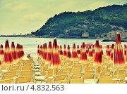 Пляж Диано Марина в художественной обработке (2013 год). Стоковое фото, фотограф Дмитрий Кравченко / Фотобанк Лори