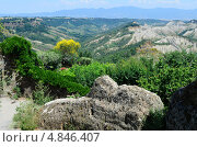 Вид пустоши в Чивита, Лацио, Италия. Стоковое фото, фотограф Александр Тесевич / Фотобанк Лори
