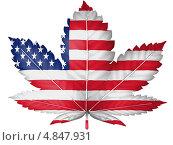 Купить «Флаг Соединенных Штатов Америки в виде листа марихуаны», иллюстрация № 4847931 (c) Клинц Алексей / Фотобанк Лори