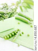 Зеленый горошек. Стоковое фото, фотограф Юлия Маливанчук / Фотобанк Лори