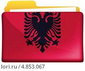 Купить «Флаг Албании на значке папки», иллюстрация № 4853067 (c) Клинц Алексей / Фотобанк Лори