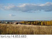Сентябрь в сельской местности на Среднем Урале (2012 год). Стоковое фото, фотограф Елена Ермоленко / Фотобанк Лори