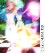 Купить «Танцующие девушки, яркий фон», иллюстрация № 4861159 (c) Анна Павлова / Фотобанк Лори