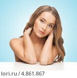 Купить «Лифтинг эффект. Девушка с подтянутой здоровой кожей на лице», фото № 4861867, снято 8 декабря 2012 г. (c) Syda Productions / Фотобанк Лори
