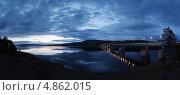 Купить «Ночной мост через Ангару», фото № 4862015, снято 20 мая 2013 г. (c) Андрей Логвинович / Фотобанк Лори