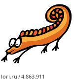 Купить «Смешной геккон», иллюстрация № 4863911 (c) Dvarg / Фотобанк Лори