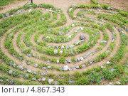 Каменный лабиринт, Кандалакшский берег, эксклюзивное фото № 4867343, снято 13 июля 2013 г. (c) Наталия Шевченко / Фотобанк Лори