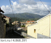Вид на горы из деревни Лиападес, Корфу, Греция. Стоковое фото, фотограф Николаева Наталья / Фотобанк Лори