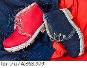 Яркие ботинки. Стоковое фото, фотограф Лика Чекалова / Фотобанк Лори