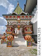 Купить «Декоративное украшение крыльца, Измайловский кремль, район Измайлово, Москва», эксклюзивное фото № 4874315, снято 11 июня 2013 г. (c) lana1501 / Фотобанк Лори