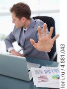 Купить «Рука показывает отказ», фото № 4881043, снято 4 ноября 2011 г. (c) Wavebreak Media / Фотобанк Лори