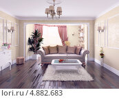 Дизайн современной гостиной, иллюстрация № 4882683 (c) Виктор Застольский / Фотобанк Лори