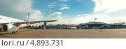 Купить «Панорама аэропорта Алма-Аты», фото № 4893731, снято 9 июля 2013 г. (c) Лукаш Дмитрий / Фотобанк Лори