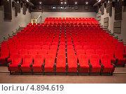 Купить «Пустой зрительный зал кинотеатра», фото № 4894619, снято 9 июня 2012 г. (c) Никончук Алексей / Фотобанк Лори