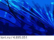 Синий декоративный фон с полосками. Стоковая иллюстрация, иллюстратор Александр Лукьянов / Фотобанк Лори
