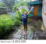 Купить «Летний дождь», фото № 4903095, снято 9 июля 2013 г. (c) Корнилова Светлана / Фотобанк Лори