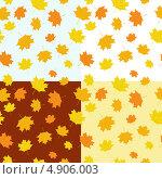 Купить «Бесшовный фон из осенних листьев», иллюстрация № 4906003 (c) Евгения Малахова / Фотобанк Лори