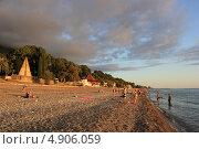 Абхазия, побережье Черного моря, город Гагра в сентябре 2012 года. Редакционное фото, фотограф Анна Самохина / Фотобанк Лори