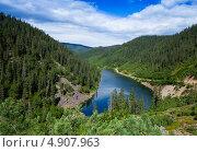Горное озеро. Стоковое фото, фотограф Александр Носков / Фотобанк Лори