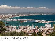 Купить «Вид на город Пальма и морской порт, Майорка», фото № 4912727, снято 31 мая 2013 г. (c) Анастасия Богатова / Фотобанк Лори
