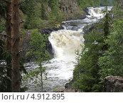 Купить «Водопад Кивач, Карелия», фото № 4912895, снято 13 июля 2012 г. (c) Ирина Борсученко / Фотобанк Лори