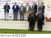 Организаторы международного турнира по гольфу M2M Russian Open 2013 на церемонии награждения, фото № 4923539, снято 28 июля 2013 г. (c) Stockphoto / Фотобанк Лори